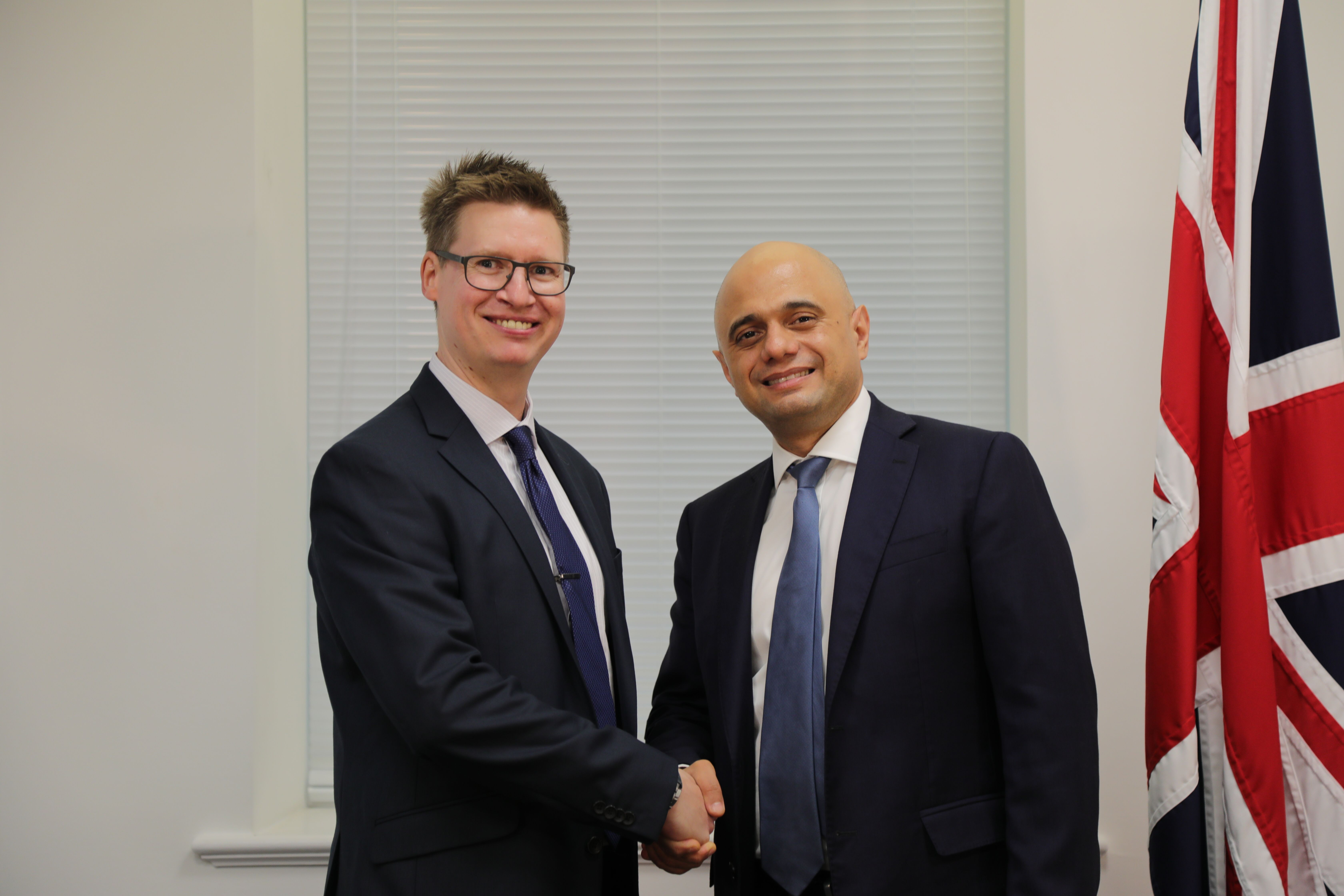 Steven Galton and Sajid Javid