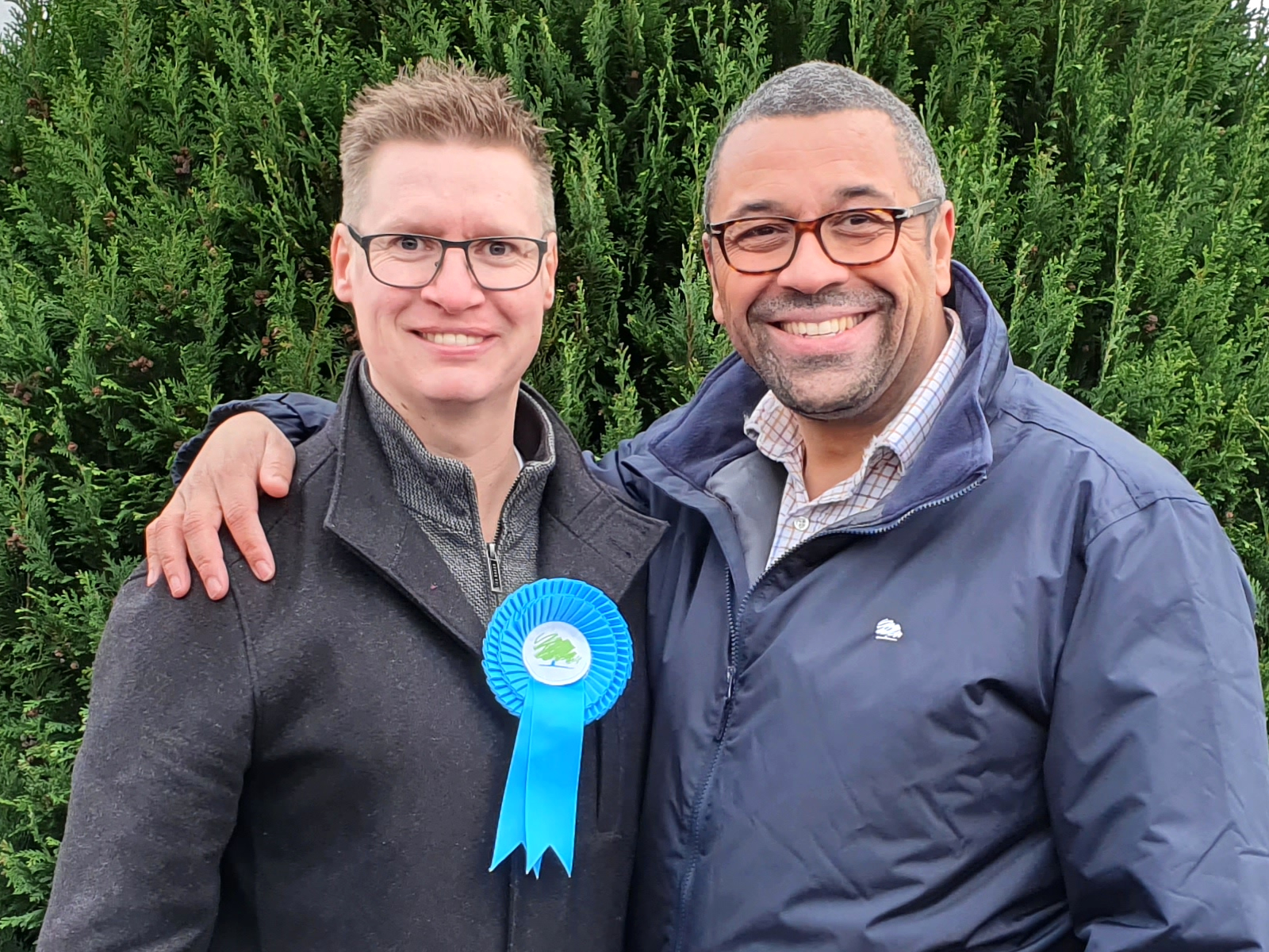 James Cleverly & Steven Galton in Southhampton