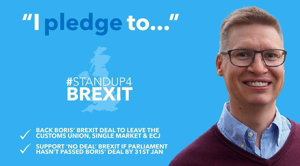 Steven Galton pledges to STANDUP4BREXIT