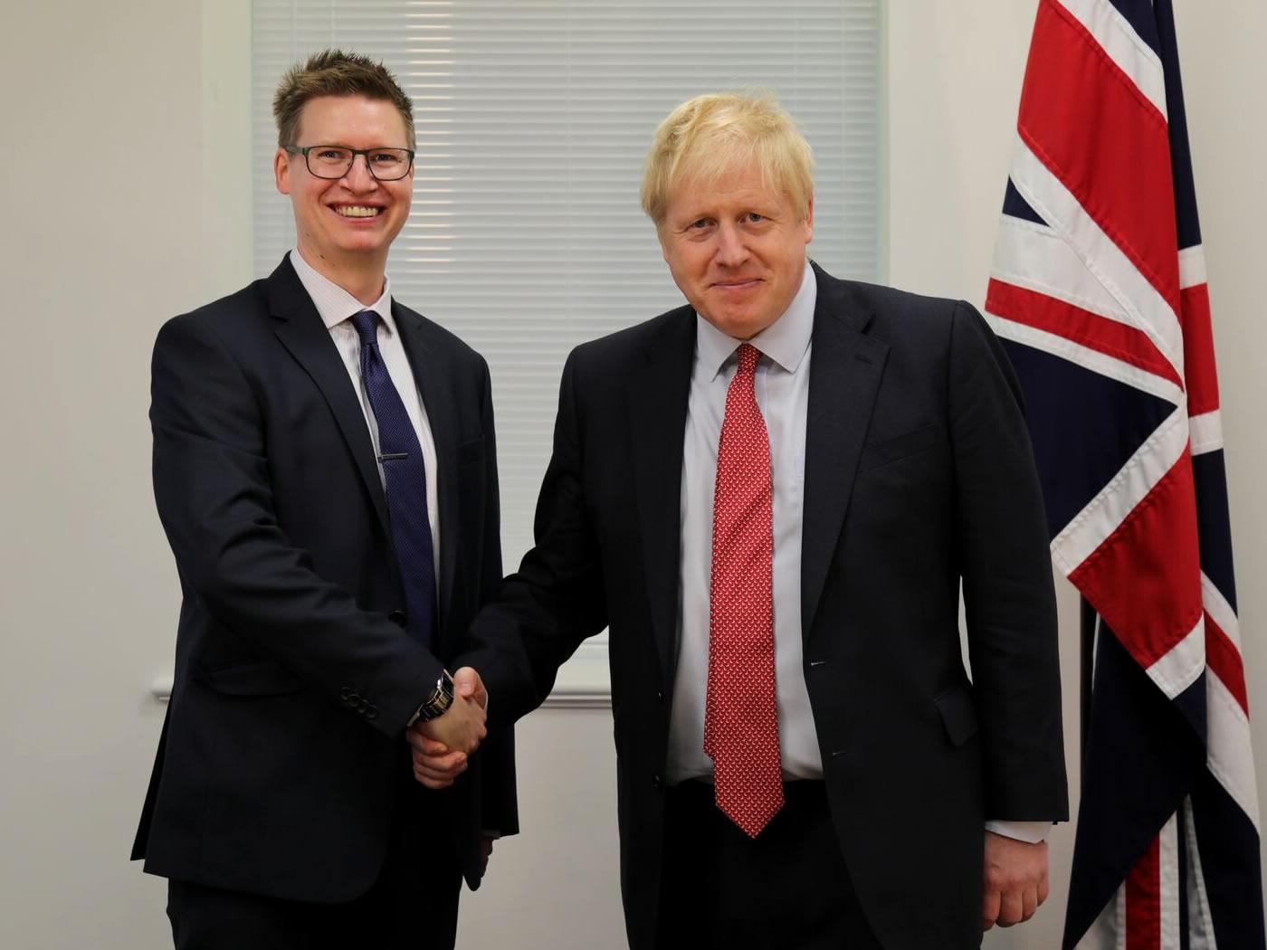 Steven Galton & Boris Johnson