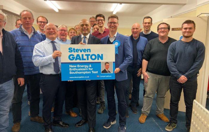 Savid Javid visits Southampton and backs Steven Galton for Southampton Test