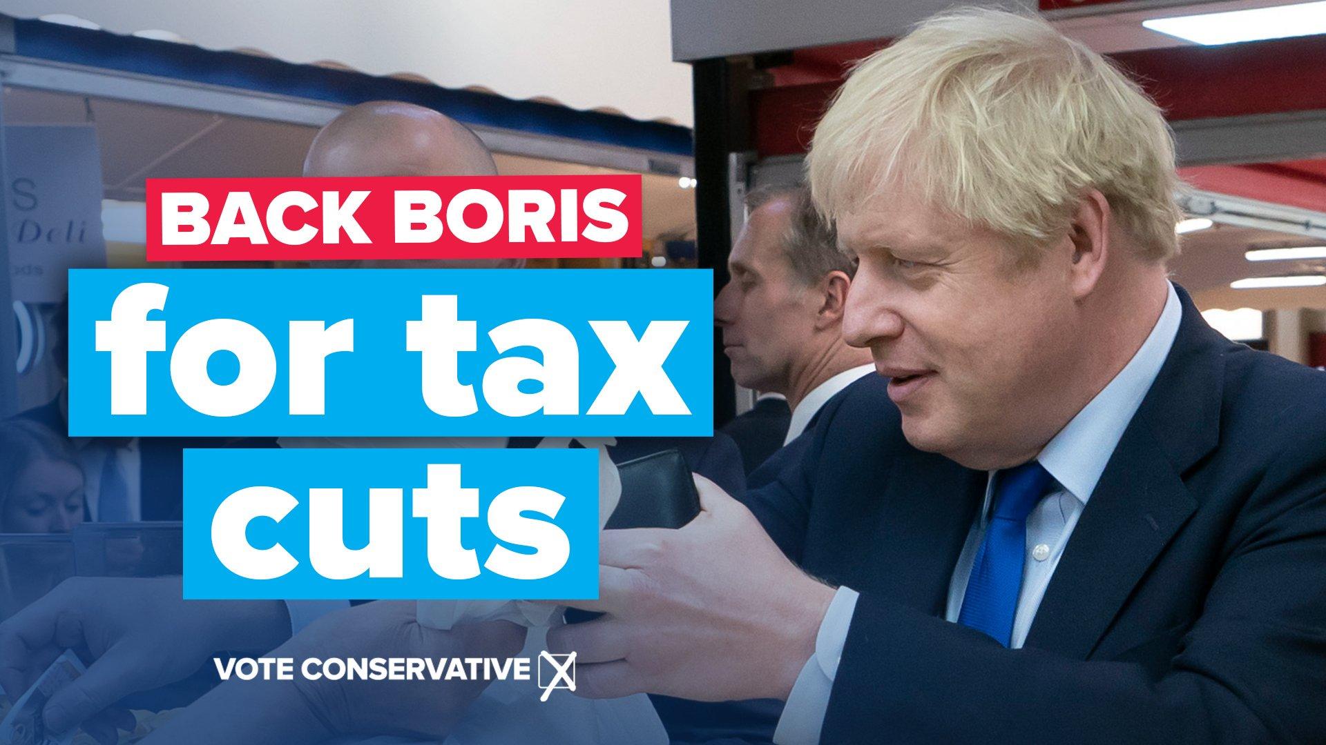 Back Boris for Tax Cuts
